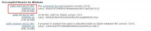 sqlite compilation option code 11