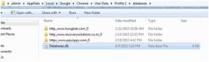 chrome-sqlite-database