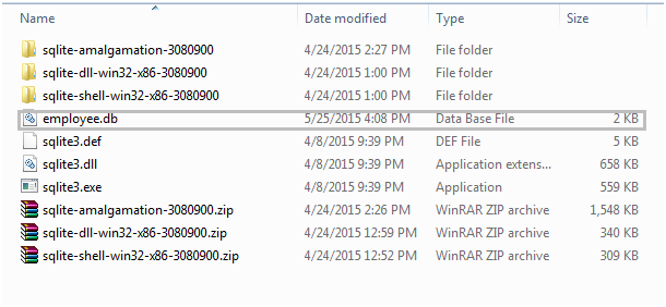 Command Line Shell for Sqlite Database