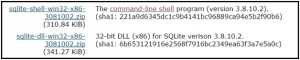 command-line-shell-Sqlite