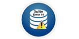 SQLite Error 14