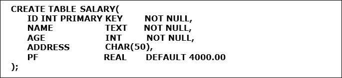 Create Not Null Constraint