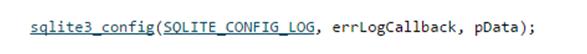 Error Log Callback